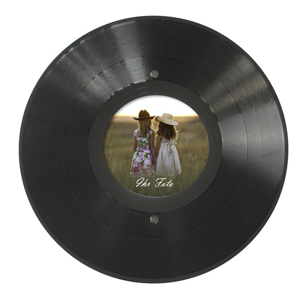 großer runder Bilderrahmen aus einer echten Vinyl-Schallplatte, FLVG ...